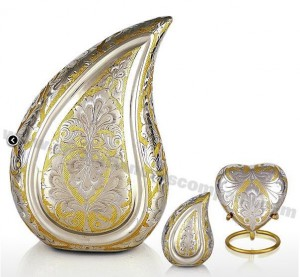 gold and silver tear urn