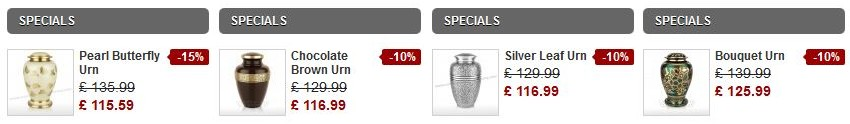 Cremation Urns Special Offers